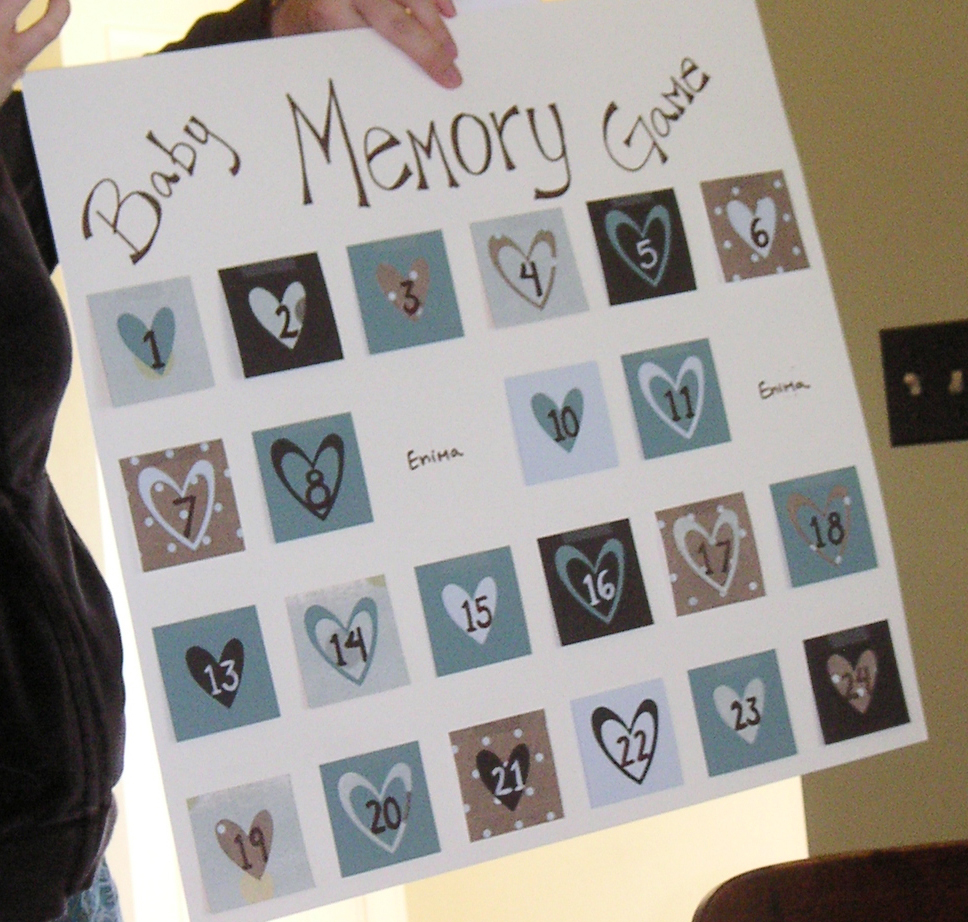 Baby Shower Memory Game Skip To Mellu